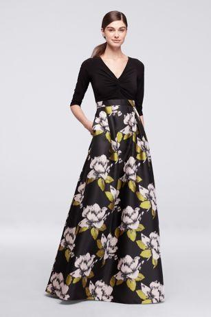 Floral Dresses,Long Dress Formal 3 4 Sleeve, Floral Dresses,Bold Prom Dresses,Long Floral Dresses,
