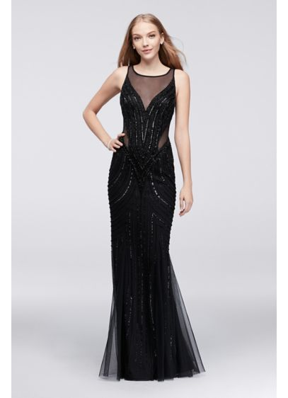 Long Mermaid/ Trumpet Tank Prom Dress - Adrianna Papell