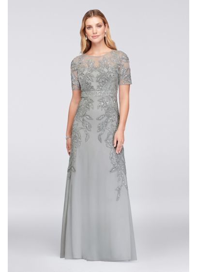 Long Sheath Elbow Sleeves Formal Dresses Dress - Adrianna Papell