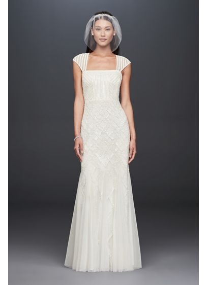 Long Sheath Modern Chic Wedding Dress - DB Studio