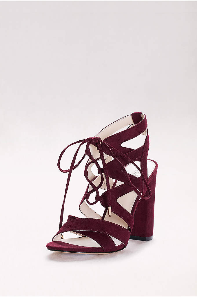 Faux-Suede Lace-Up Sandals - Perfect for pairing with high hemlines and high-rise