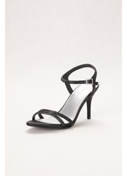 David's Bridal Black (Strappy Mid-Heel Sandal)
