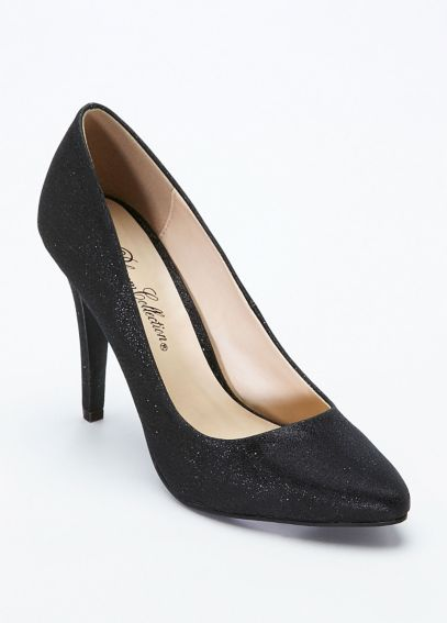 Glitter Crepe High Heel Pointy Toe Pump AROBBIE1