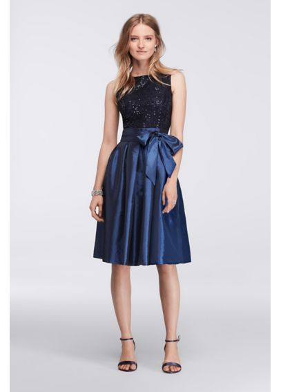 Short Dress with Full Skirt and Sequin Bodice ASANTE48