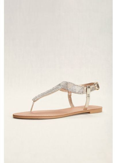 Geometric T-Strap Crystal Sandals ATHENA939A