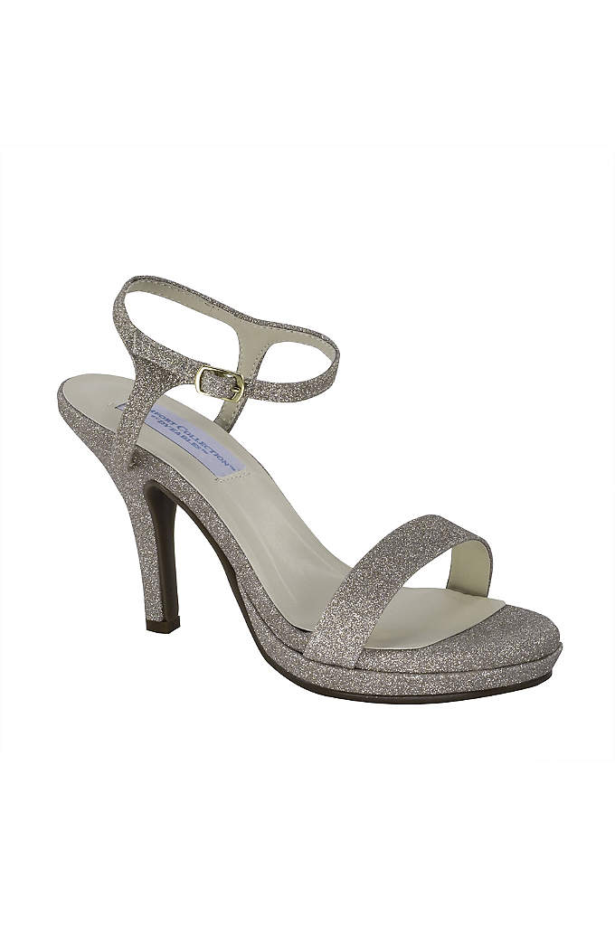 Slim Strap Glitter Platform Sandals - As comfortable as they are pretty, these glittery