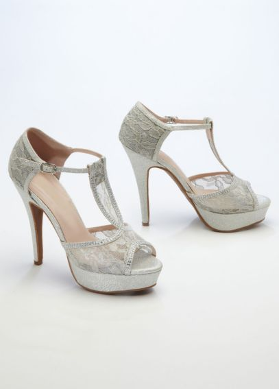 Glitter and Lace High Heel Sandal AVICE25