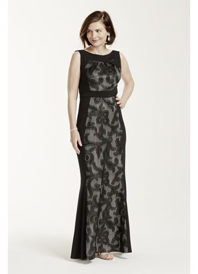 Long Sheath Tank Military Ball Dress - Sangria