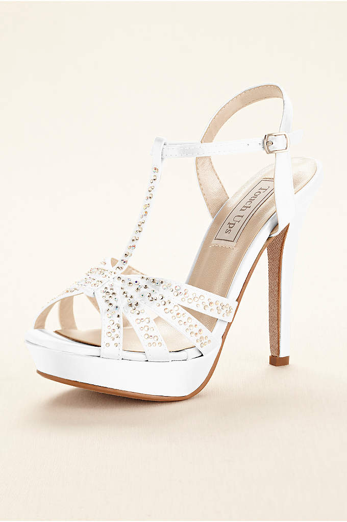 Dyeable Strappy Platform Sandal by Touch Ups - Glam up any special occasion ensemble in these