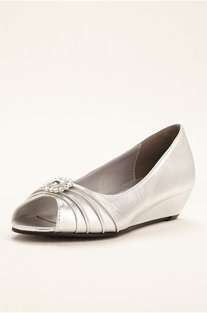 Anette Low Wedge Peep Toe Pump - Chic and stylish, the Anette low wedge peep