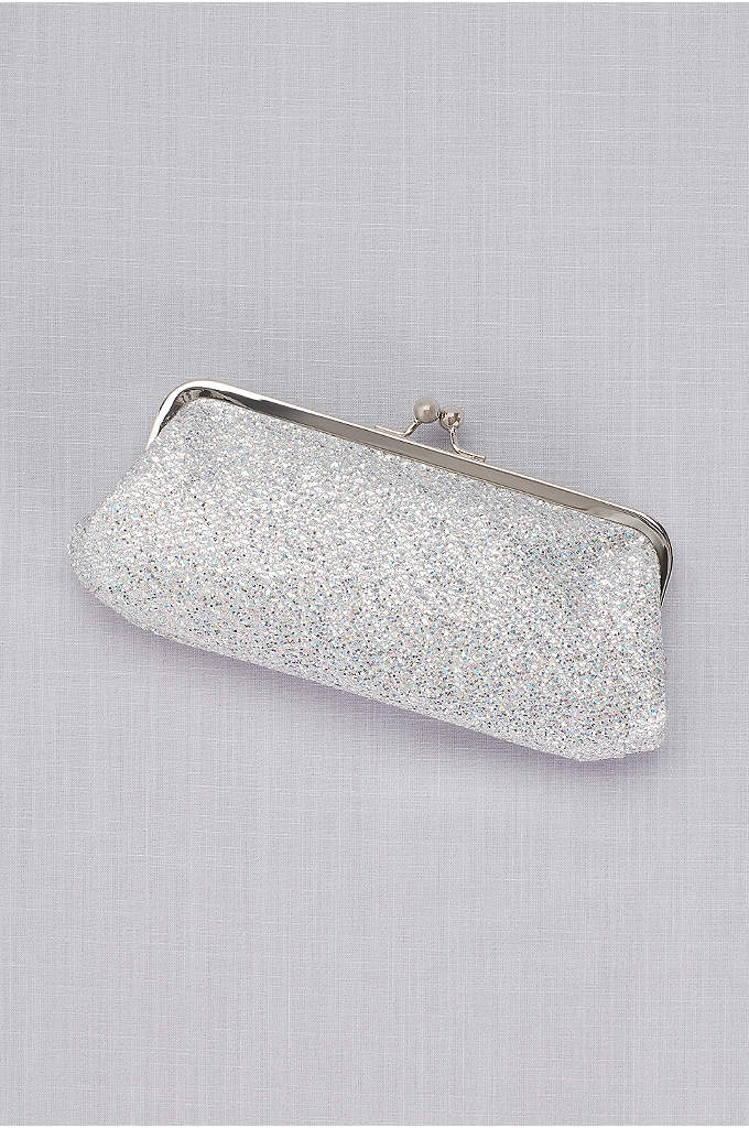 Glitter Mesh Clutch - Glitter mesh makes this iridescent clutch ready for