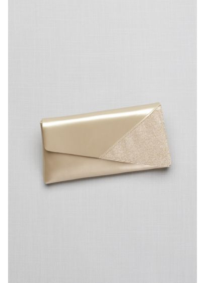 Morgan Metallic Foldover Clutch and Glitter Detail - Wedding Accessories