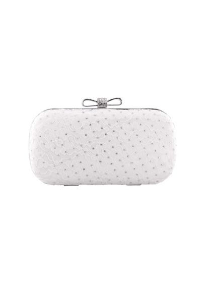 Dyeable Lace and Satin Clutch with Chain B778