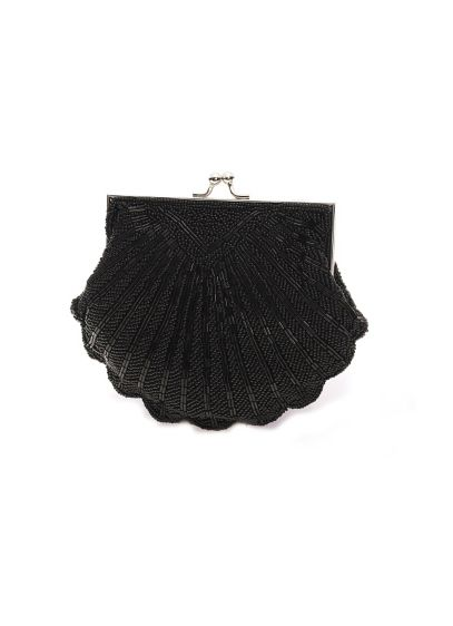 Beaded Shell Clutch with Chain - Wedding Accessories