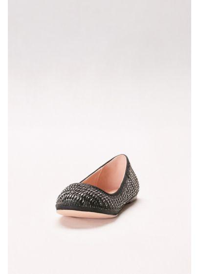 Blossom Black (Crystal-Embellished Ballet Flats)