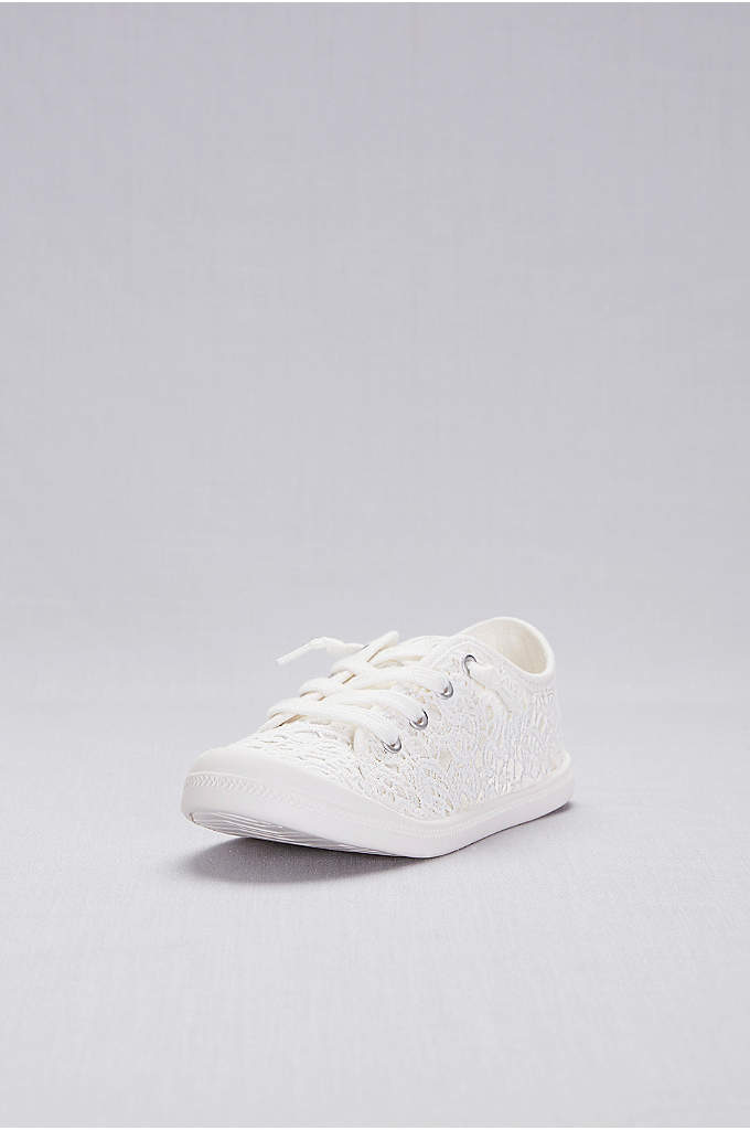 Crochet Lace Sneakers - Whether you're bopping down the aisle in cushy