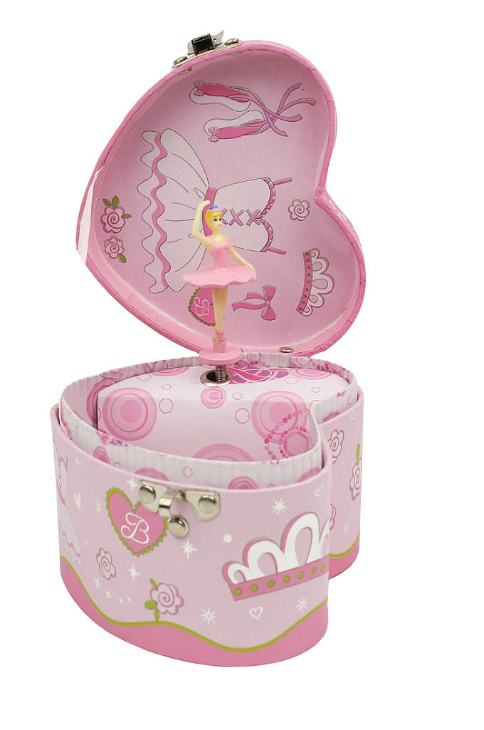Heart Shaped Musical Jewelry Box - This heart-shaped music box will be the perfect