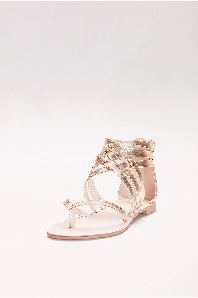 Metallic Gladiator Thong Sandals - Perfect for a beach wedding or a beach