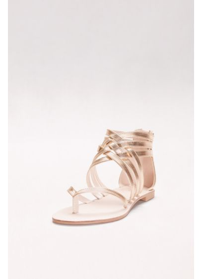 David's Bridal Yellow (Metallic Gladiator Thong Sandals)