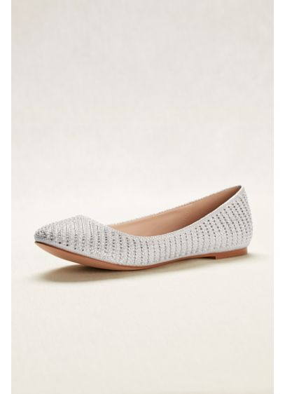 White (Crystal and Pearl Ballet Flats)