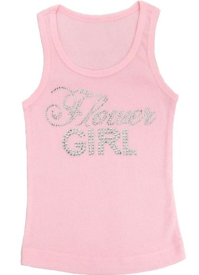 Big Bling Flower Girl Tank Top - Wedding Gifts & Decorations