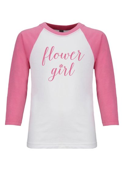 Pink (Sporty Flower Girl T-Shirt)