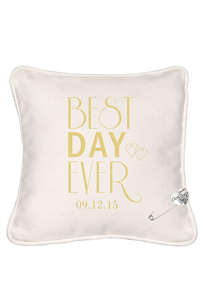 Personalized Best Day Ever Ring Bearer Pillow - The Personalized Best Day Ever Ring Bearer Pillow