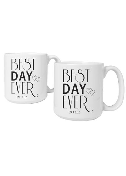 Personalized Best Day Ever Large Mugs Set of 2 BDE-3900