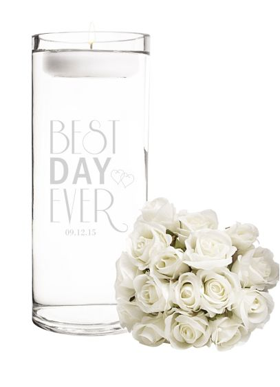 Personalized Best Day Ever Floating Unity Candle - Wedding Gifts & Decorations