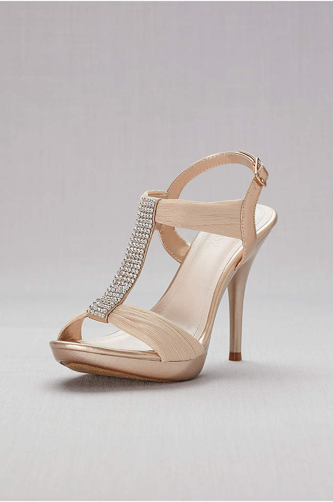 Crystal T-Strap High Heel Sandal by Blossom - Let your inner fashionista shine in these gorgeous
