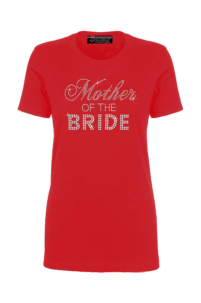 Mother of the Bride Big Bling T-Shirt - This trendy rhinestone embellished Mother of the Bride