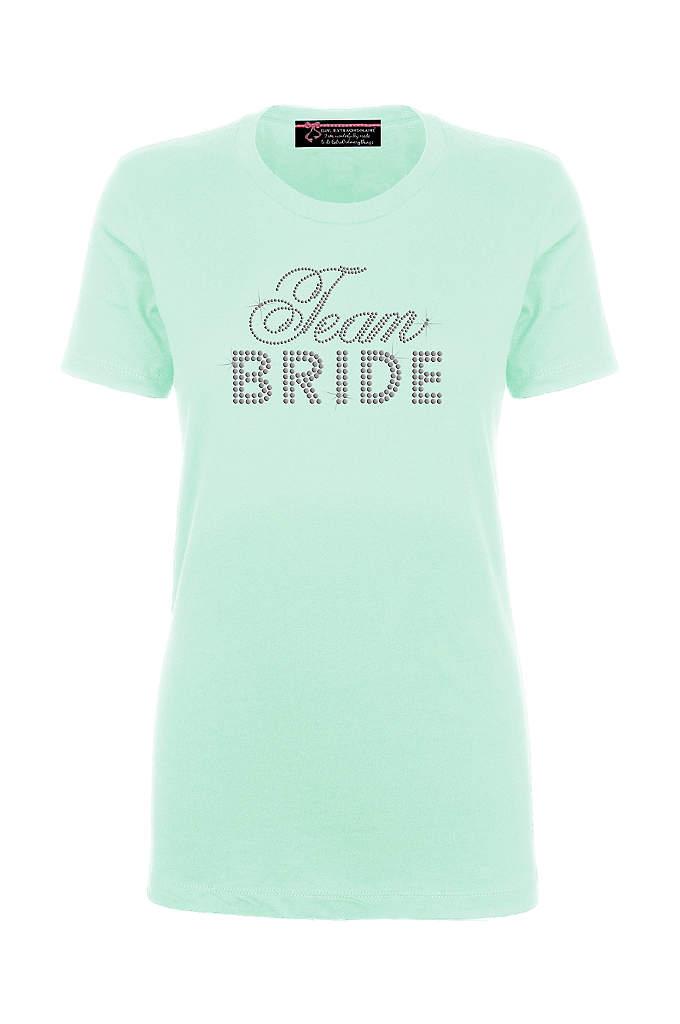 Team Bride Big Bling T-Shirt - This trendy rhinestone embellished Team Bride tee is