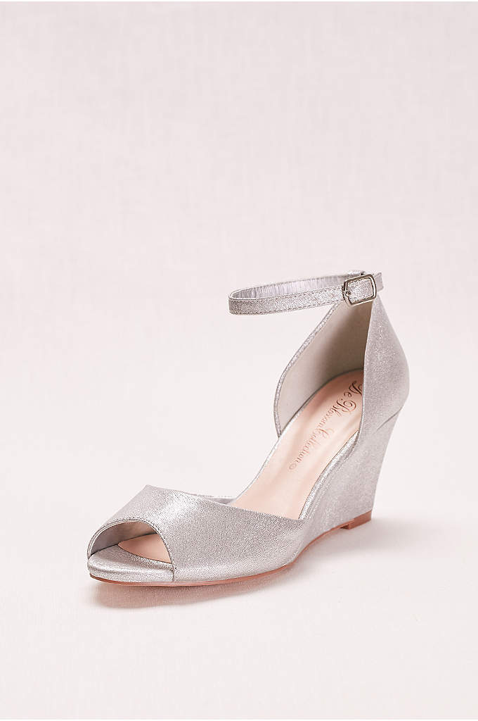 Peep Toe Wedge with Ankle Strap