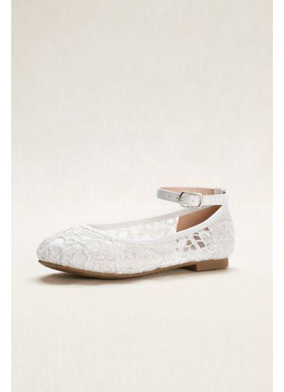 Blossom White (Flower Girl Crochet Lace Ballet Flats)
