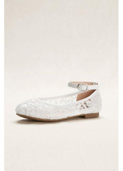 flower girl crochet lace ballet flats davids bridal. Black Bedroom Furniture Sets. Home Design Ideas