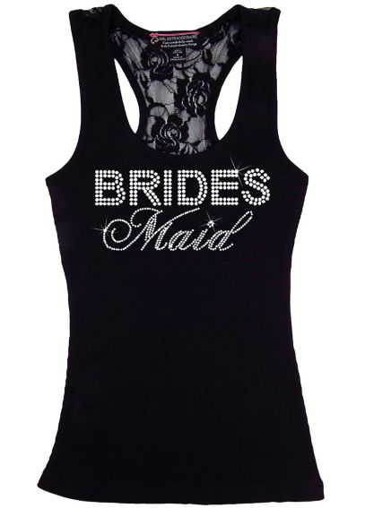 Bridesmaid Big Bling Lace Tank BIGBLINGLACEBM