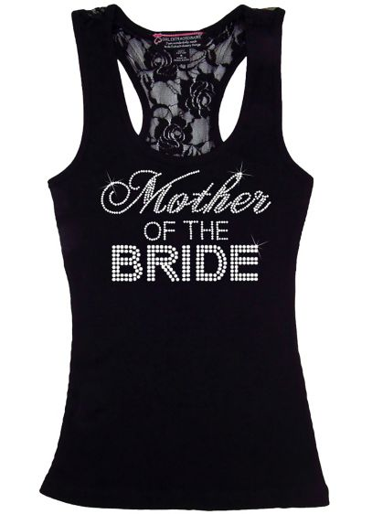 Mother of the Bride Big Bling Lace Tank - Wedding Gifts & Decorations