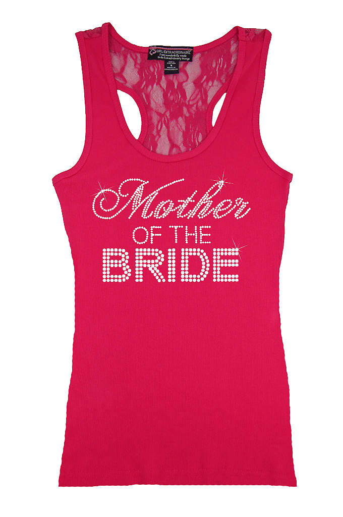 Mother of the Bride Big Bling Lace Tank - Make mom feel special in this trendy rhinestone