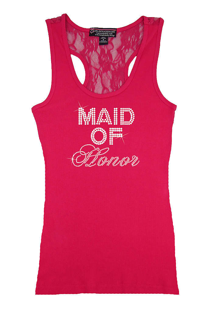 Maid of Honor Big Bling Lace Tank - Make your girls feel special in this trendy