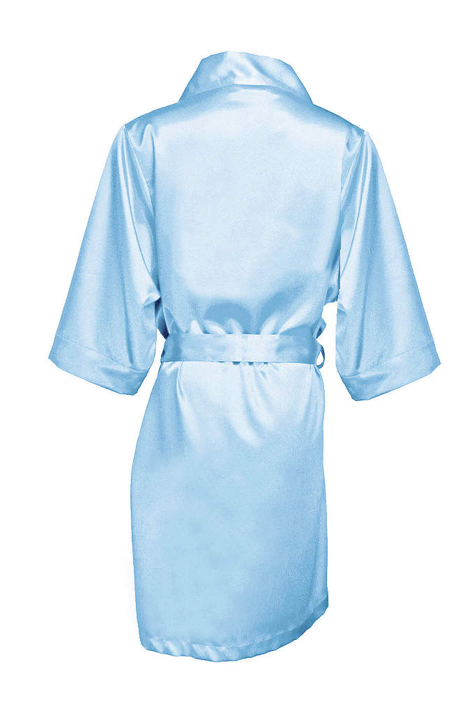 Blank Luxury Satin Robe - Comfortable and gorgeous, this robe is definitely a