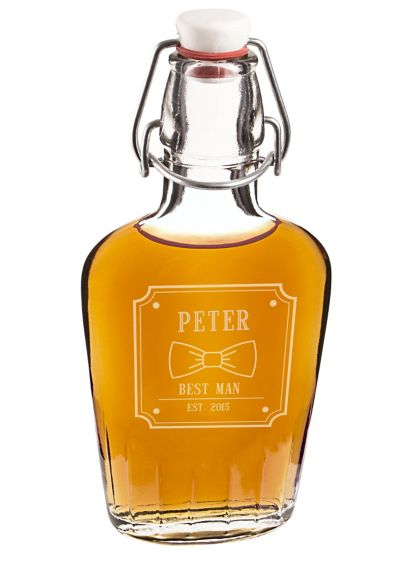 Personalized Bow Tie Glass Flask - Wedding Gifts & Decorations