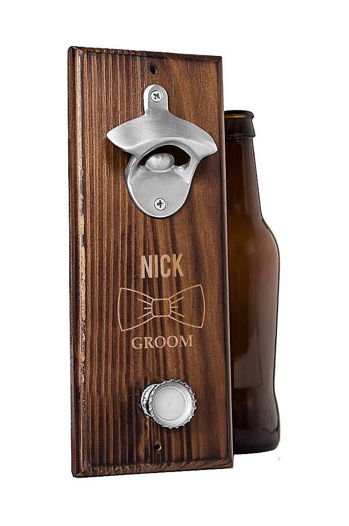 Personalized Bowtie Bottle Opener with Cap Catcher - The Personalized Bowtie Bottle Opener with Cap Catcher