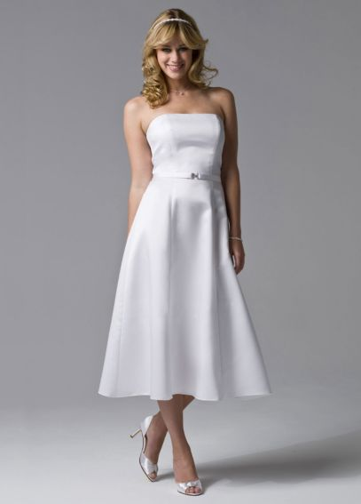 Strapless Tea-Length Dress BR1000