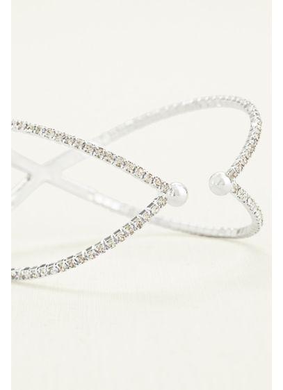 Crisscross Pave Bracelet - Wedding Accessories