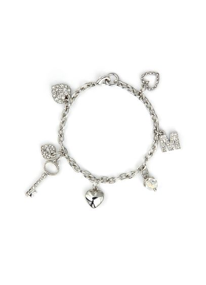 DB Exc Personalized Key To My Heart Charm Bracelet - Wedding Gifts & Decorations
