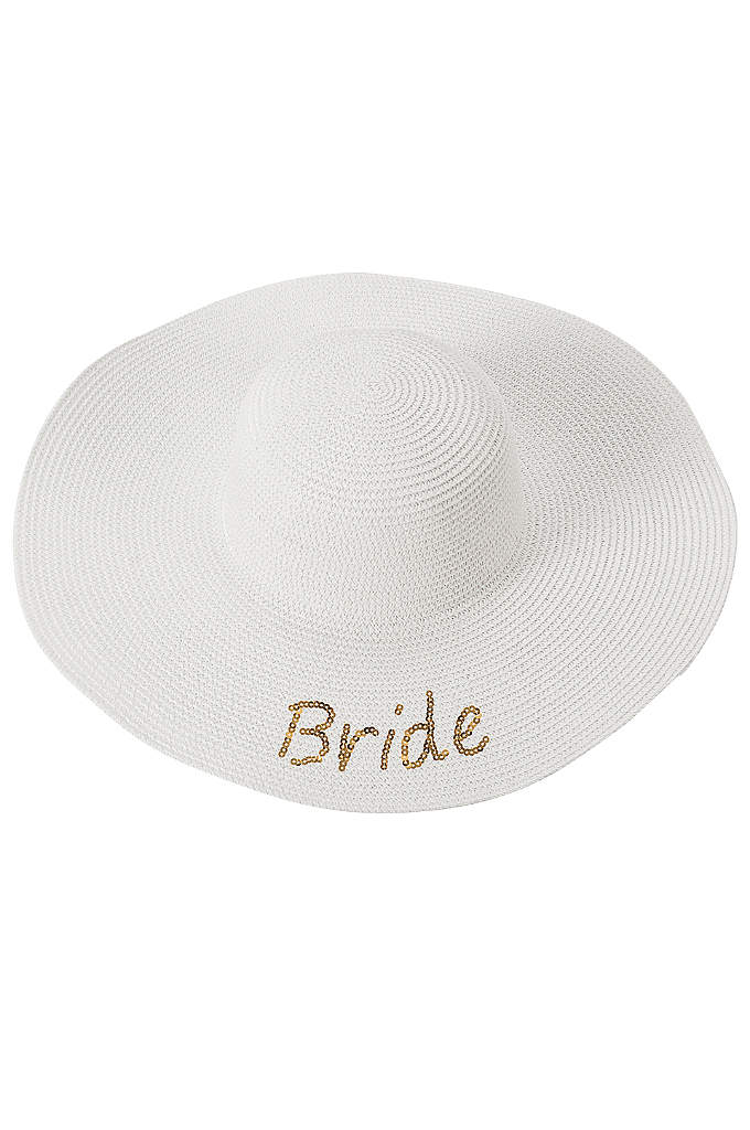 Gold Sequin Bride Sun Hat - The Gold Sequin Bride Sun Hat is the