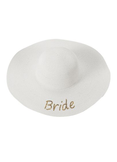 Gold Sequin Bride Sun Hat - Wedding Gifts & Decorations