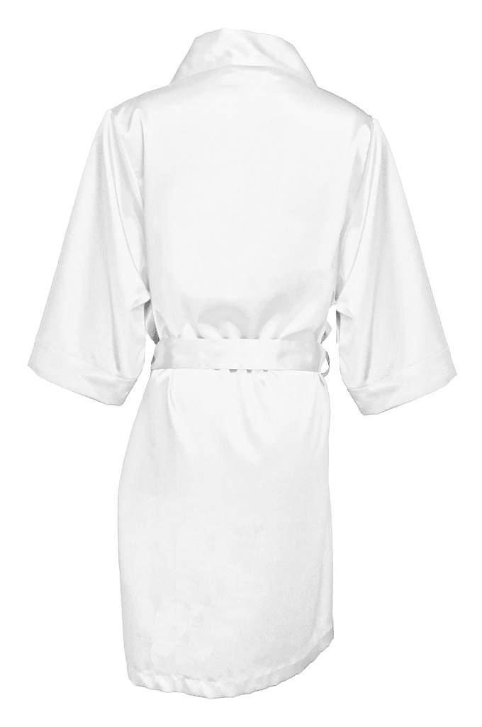 Blank Bridal Luxury Satin Robe - Comfortable and gorgeous, this Blank Bridal Luxury Satin