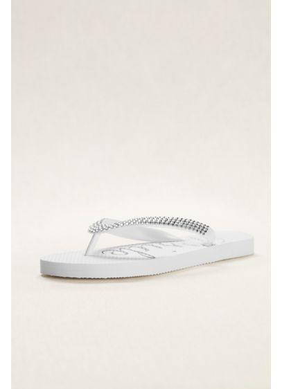 David's Bridal White (Crystal Bride Flip Flops)
