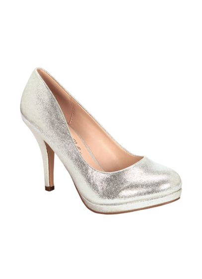 Blossom Grey (Metallic Closed Toe Pump)